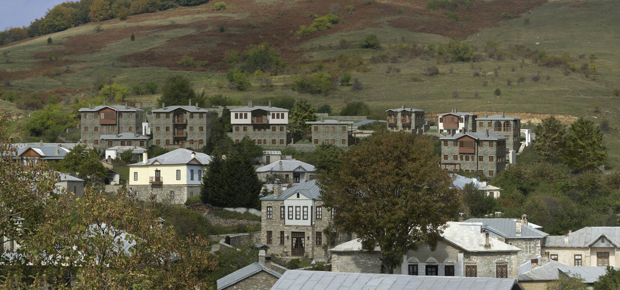 Complex of houses in Nymfaio
