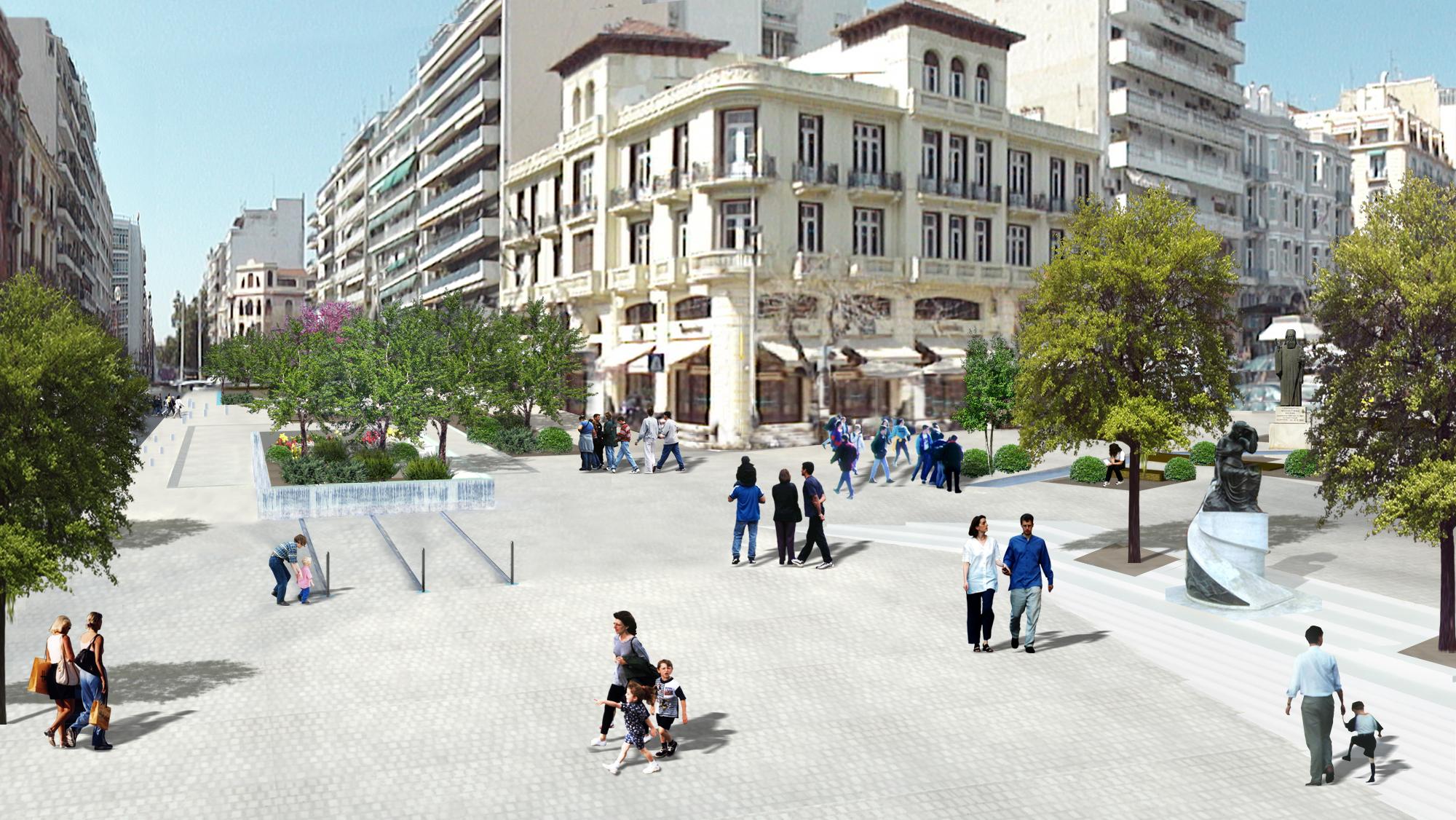 Competition entry for Agia Sofia area, Thessaloniki